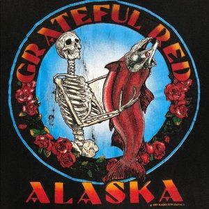 Grateful Dead 'Red' Alaska Band Tour T-Shirt 1991